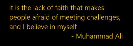 Lack of faith - Ali